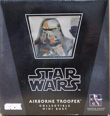 Star Wars AIRBORNE TROOPER UTAPAU Gentle Giant MINI BUST Statue CLONE ORANGE
