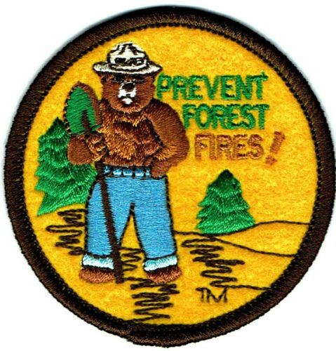 ⫸ Official Friends of SMOKEY BEAR Prevent Forest Fires Embroidered Patch NEW  I