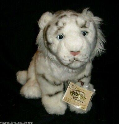 GANZ Webkinz Firma Blanco Tigre Bengala Oro con Relleno Animal Peluche Etiqueta