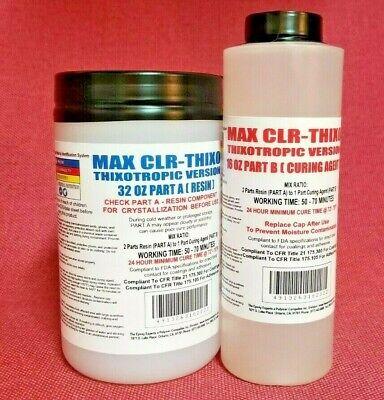 MAX CLR THIXO EPOXY CLEAR FOOD SAFE COATING -LESS RUNS 4 VER