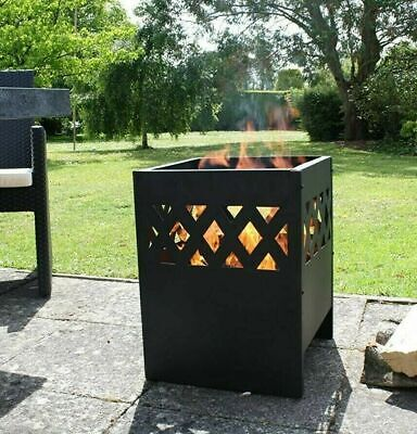 Steel Fire Pit 53 cm Log Burner Outdoor Garden Patio Heater | Fast Free 🚚💨💨