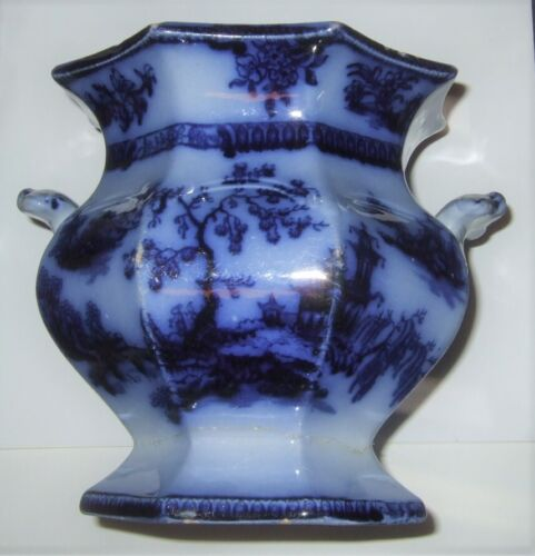 Flow Blue Sugar Bowl Chapoo Ironstone Antique