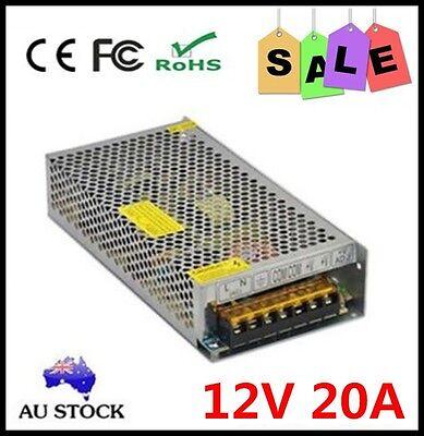 Led 5050 3528 Converter AC100-240V To DC 12V 20A 240W Car Power Supply Adapter