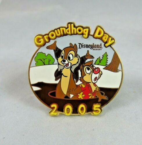 Disney Disneyland Pin - Groundhog Day 2005 - Chip and Dale - Rescue Rangers