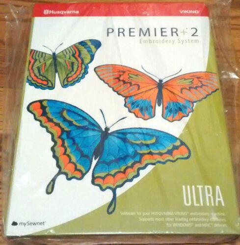 Husqvarna Viking and Pfaff Premier Plus + 2 Ultra Embroidery Software System