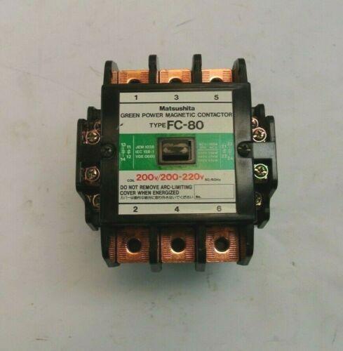Matsushita FC-80 200V/200-220V 50/60Hz AC1-150A Green Power Magnetic Contactor