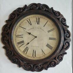 "Edinburgh Clock Works Oversized 23"" Battery Operated Decorative Wall Clock EXC"