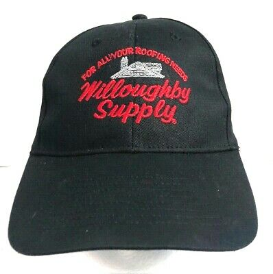Vintage Willoughby Supply Roofing Men's Blue Trucker Cap Snap Back Hat