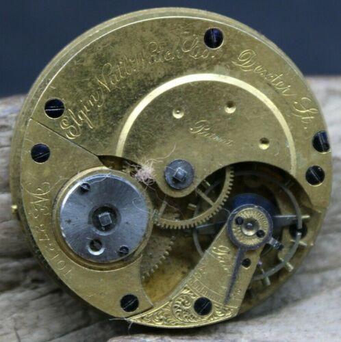 1873 Elgin Grade 28 Dexter St 10s 7J Pocket Watch Movement 272101 KEY WIND(J2Q3)