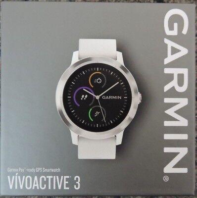 Garmin VIVOACTIVE 3 GPS Smartwatch White Band / Stainless Steel Bezel
