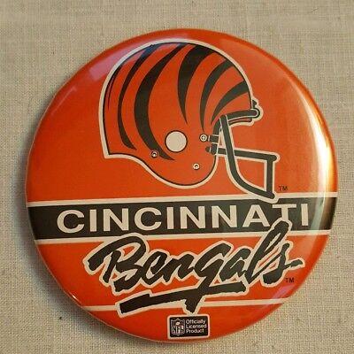 NFL Cincinnati Bengals Vintage Football Pinback Button Sports Memorabilia