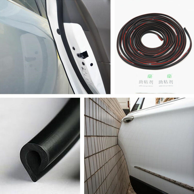 Car SUV Door Edge Side Protection Guard Anti-rub Scratch Strips Black Pad 16.5ft