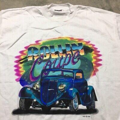 90s VTG HOT ROD Drag Racing RAT FINK L T Shirt Fruit Of The Loom Best Made