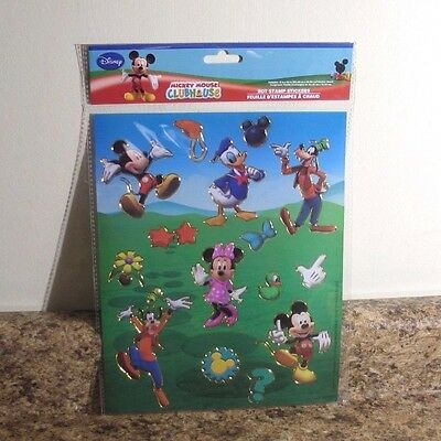 (Disney Mickey Mouse Clubhouse Hot Stamp Stickers Sheet NEW)