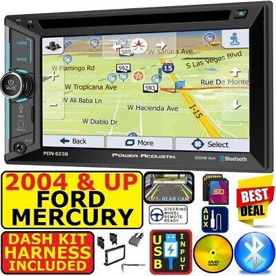 04 & UP FORD MERCURY GPS NAVIGATION BLUETOOTH CD/DVD USB SD AUX CAR RADIO STEREO