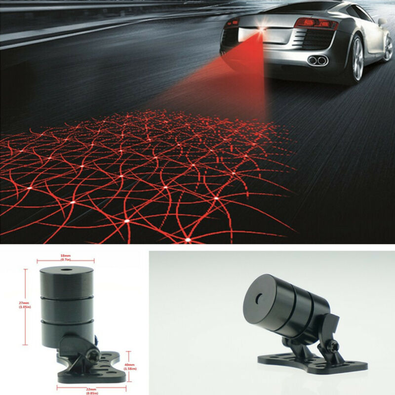 RED Artascope Pattern Anti Pileup Rear End Tail Fog Driving Laser Caution Light