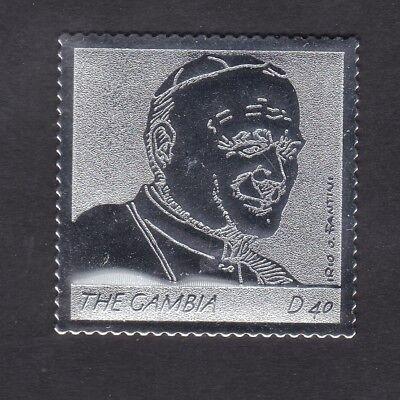 Gambia 2005 Death of Pope John Paul 40d - Silver Foil - MNH (B4E)