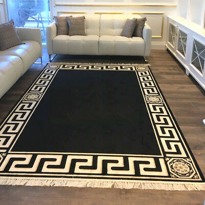 Exclusive Meander Medusa Carpet Black K-Seide Meander Carpet Rug Versac