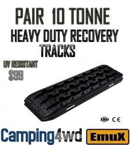 NEW Black 10T Recovery Tracks Off Road 4x4 4WD Car Snow Mud Track trax