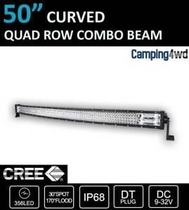 NEW! 50inch Curved LED Light Bar Cree Spot Flood Combo Lightbar 4wd