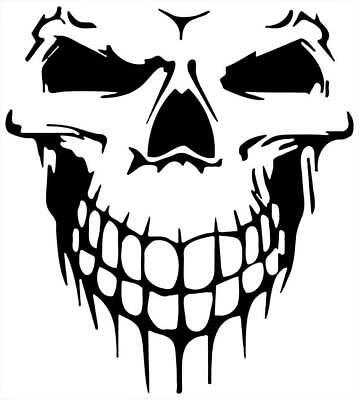 skull  car bike van laptop window  vinyl stickers graphic decal 100 x 70 mm