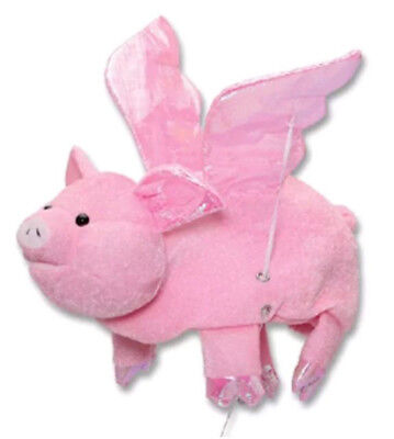 Flying Pig Hat Funny Adult Costume Accessory Cap Joke Flapping Moving Wings