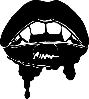 Bloody Mouth vinyl decal sticker vampire goth metal punk stoker rice twilight
