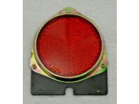 RED ROUND 4.5 INCH HIGH REFLECTOR for TRUCK MOTORHOME TRAILER HORSEBOX CAMPER.**