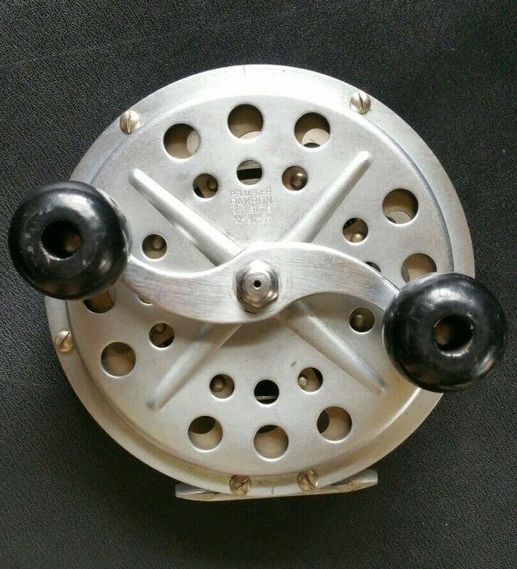 """Rare adjustable  PFLUEGER PAKRON No. 3178 Vintage Deep Sea Fishing Reel D-5.5"""""""