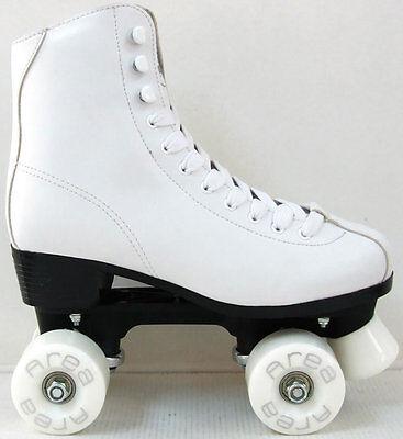 Roller Skates 4 Räder Quad Künstlerische Weiße Stöckel Dal 33 Al 41 (Quad Roller Skate Räder)