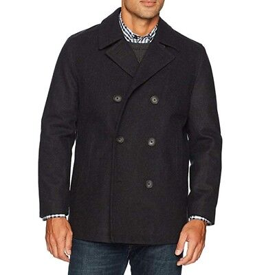 - NWT Nautica Men's Double Breasted Wool Peacoat, Charcoal, S/ L /XL