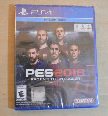 NEW PS4 Pro Evolution Soccer 2018: Premium Edition (Sony PlayStation 4, 2017)