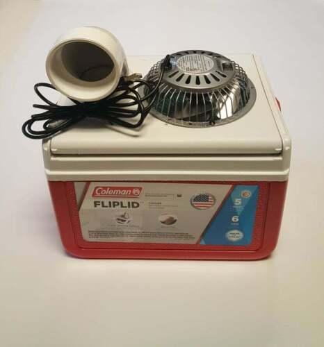 """Swamp Cooler Coleman 5qt 5 quart  Portable Fan Air Conditioner 4"""" USB power Fan"""
