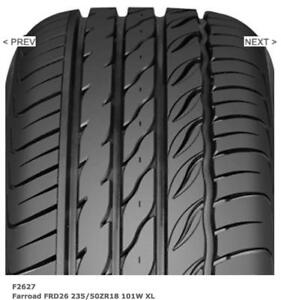 TIRES 235/50/ZR18 4 LEFT NEW FARROADS FRD26 other sizes available