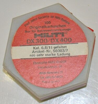 Original-Hilti Kartuschen 100 Stück  rot Cal. 6,8/11M für Hilti DX 300, DX 400
