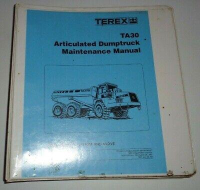 Terex Ta30 Articulated Dump Truck Service Shop Maintenance Manual Original