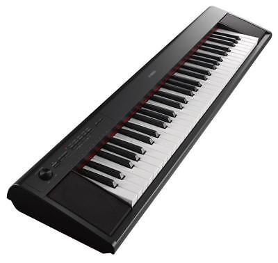 Yamaha Piaggero NP-12 Portable Stage Piano Klavier E-Piano Keyboard Schwarz
