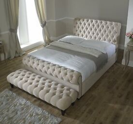 Chesterfield sleigh bed / ANY SIZE / X -MAS SALE 🌲
