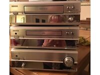 DENON TUNER/AMPLIFIER/CD & CASSETTE (IMMACULATE/GREAT SOUND/HARDLY USED) WITH PIONEER SPEAKERS.