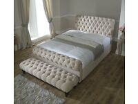Chesterfield Sleigh beds#HUGE SALE RRP£499#ALL SIZES AND COLURS