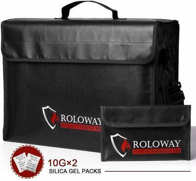 ROLOWAY Large (17 x 12 x 5.8 inches) Fireproof Bag, XL Bonus bag mini