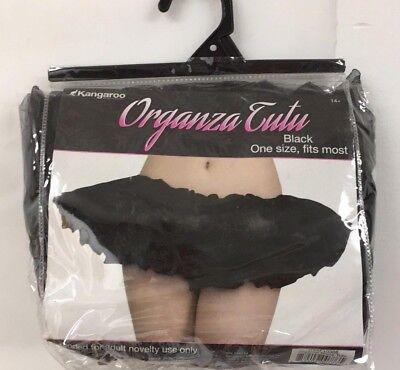 Kangaroo Organza Black Tutu Adult One Size Dress Up Skirt Halloween Costume