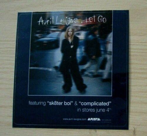 """Avril Lavigne 2002 Original Vintage Promo Sticker """"Let Go"""""""
