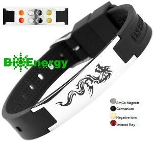 Dragon Magnetic Energy Germanium Power Bracelet Health 4in1 Bio Armband BAND