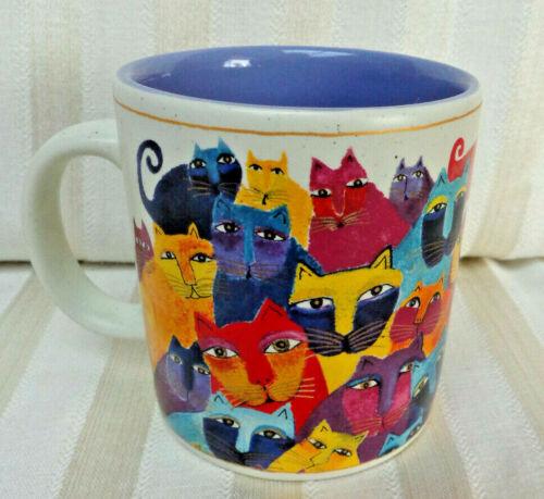 Laurel Burch Wine Things Multi Cat Ceramic Mug