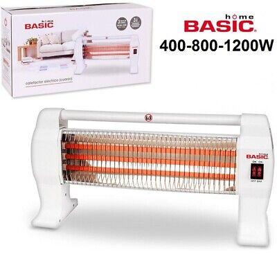 Calefactor de cuarzo estufa electrico 400 / 800 / 1200w Basic Home