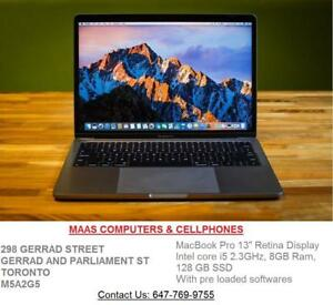 "Macbook Pro 13""  [2017] Mint Condition ,i5-2.3Ghz-8GB ram-128 GB SSD + Pre loaded softwares."