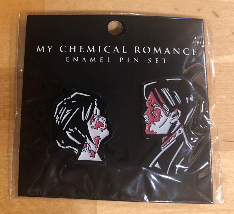 MCR MY CHEMICAL ROMANCE THREE CHEERS FOR SWEET REVENGE 2 PACK ENAMEL PIN