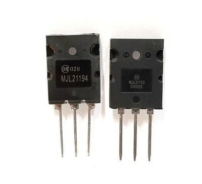 5 Pairs Mjl21194   Mjl21193 Silicon Power Transistor New By On Semiconductor
