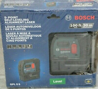 BOSCH 5 Point Self Leveling Plumb & Square Alignment Laser GPL 5 S Genuine